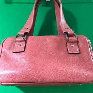 Vintage Kate Spade Pink/Salmon Leather Satchel.